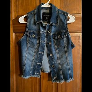 Maurices Denim Vest Jacket